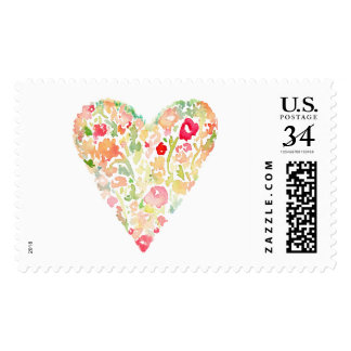 Cute Painted Watercolor Heart Stamp