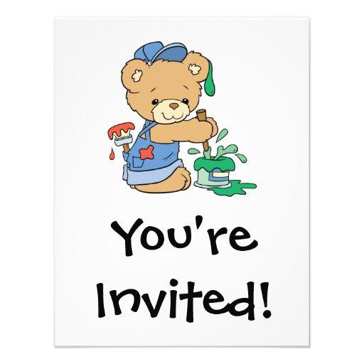 Cute Painter Bear Announcement