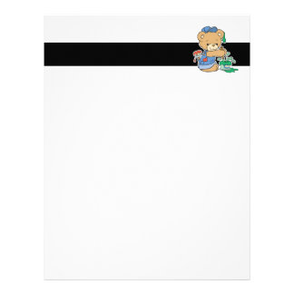 Cute Painter Bear Letterhead