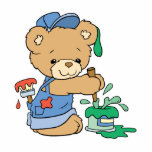 Cute Painter Bear Photo Cutouts