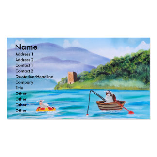 Cute painting of the Loch Ness monster Double-Sided Standard Business Cards (Pack Of 100)