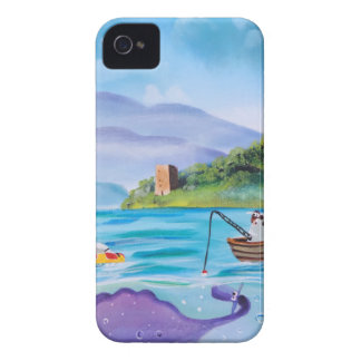 Cute painting of the Loch Ness monster Case-Mate iPhone 4 Case