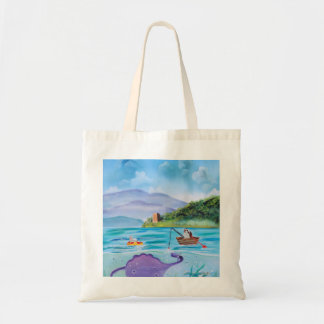 Cute painting of the Loch Ness monster Tote Bag