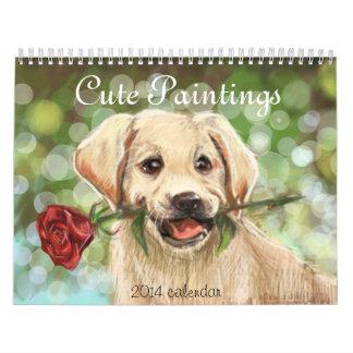 Cute Paintings fine art Calendar
