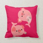 Cute Pair of Cartoon Merpigs Pillow