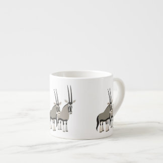 Cute Pair of Cartoon Oryxes Espresso Cup