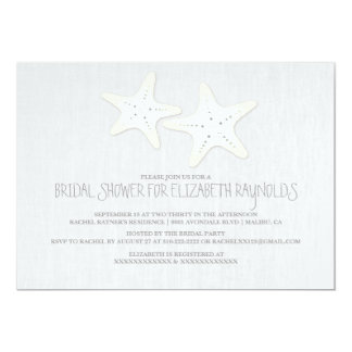 Cute Pair of Starfish Bridal Shower Invitations Personalized Announcement