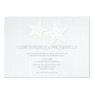 Cute Pair of Starfish Wedding Invitations Announcements