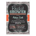 Cute Paisley Chalkboard look Bridal Shower 5x7 Paper Invitation Card