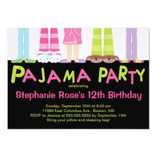 """Cute Pajama Party Birthday Party Invitations 5"""" X 7"""" Invitation Card"""