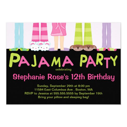 Cute pajama party birthday party invitations zazzle cute pajama party birthday party invitations filmwisefo