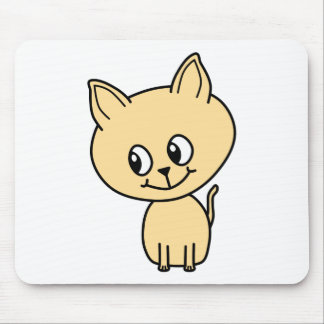 Cute Pale Amber Kitten. Mouse Pads