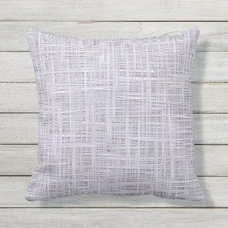 Cute Pale Lavender Violet Faux Jute Fabric Pattern Throw Pillow