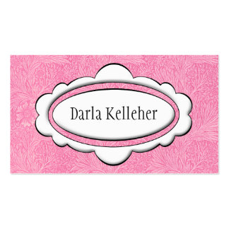 Cute Pale Pink Business Cards Business Card Template