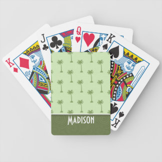 Cute Palm Tree Pattern Bicycle Playing Cards