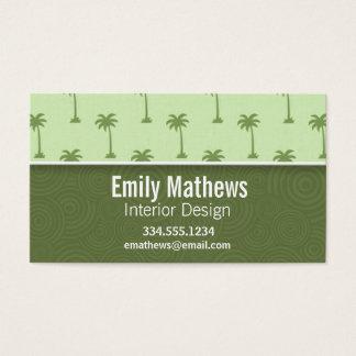 Cute Palm Tree Pattern Business Card