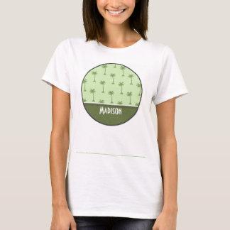 Cute Palm Tree Pattern T-Shirt
