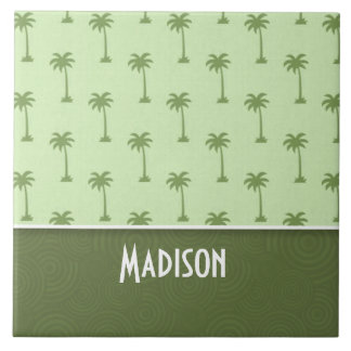 Cute Palm Tree Pattern Tile