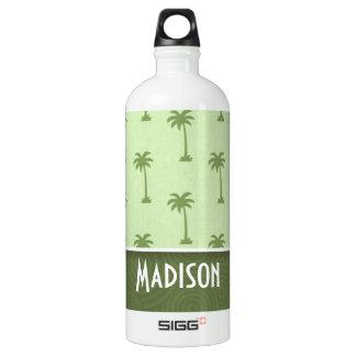 Cute Palm Tree Pattern Water Bottle