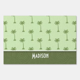 Cute Palm Tree Pattern Yard Sign