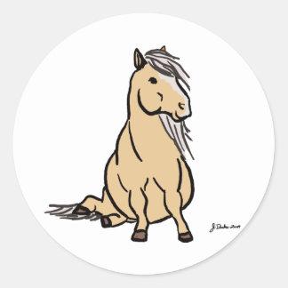 Cute Palomino Pony Stickers