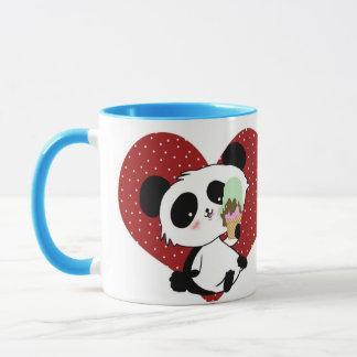 Cute Panada eating icecream kawaii Mug