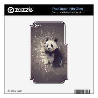 Cute Panda Abstract Decal For iPod Touch 4G