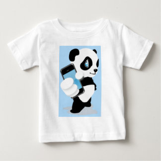 Cute Panda and Cell Phone Baby T-Shirt
