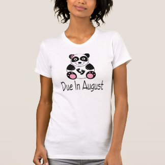 Cute Panda August Due Date Maternity - Customized T-Shirt