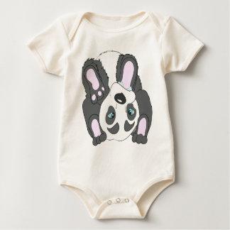 cute panda baby bodysuit