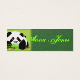 Cute Panda Bear Animal Art Vine Leaf Peace Destiny Mini Business Card