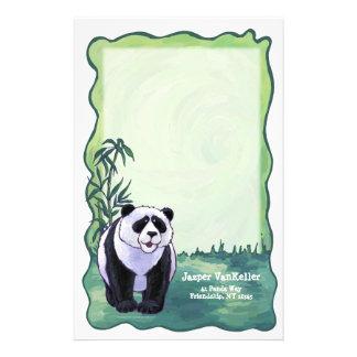 Cute Panda Bear Art Personal Stationery
