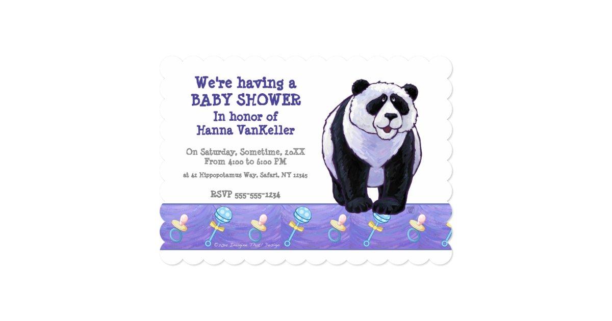 cute panda bear baby shower card zazzle