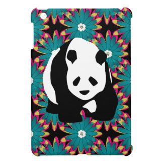 Cute Panda Bear Blue Pink Flowers Floral Pattern iPad Mini Case