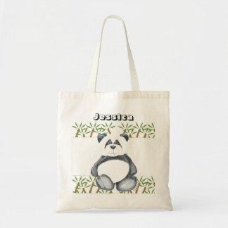 Cute Panda Bear Budget Tote Bag