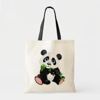 Cute Panda Bear Cartoon Tote Bag