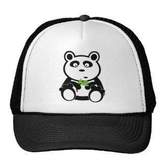 Cute Panda Bear Eating Bamboo Leaves Hat