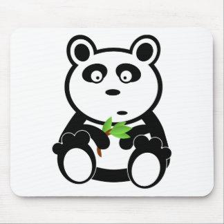 Cute Panda Bear Eating Bamboo Leaves Mousepads