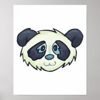 cute panda bear face poster
