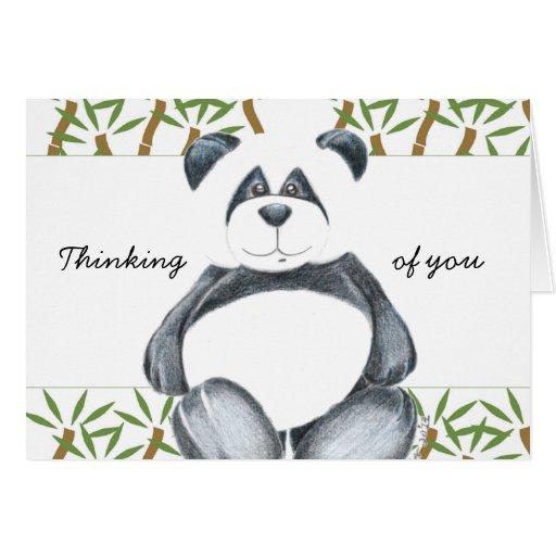 Cute Panda Bear Greeting Card