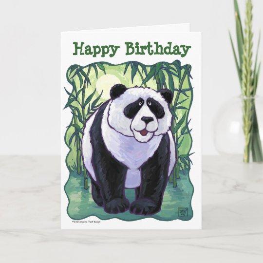 Cute Panda Bear Happy Birthday Card Zazzle