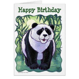 Cute Panda Bear Happy Birthday Card