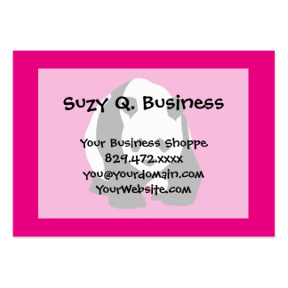 Cute Panda Bear Hot Pink Fuchsia Zoo Wildlife Gift Large Business Card