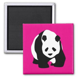 Cute Panda Bear Hot Pink Fuchsia Zoo Wildlife Gift Refrigerator Magnets