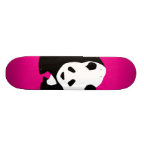 Cute Panda Bear Hot Pink Fuchsia Zoo Wildlife Gift Skateboard Deck