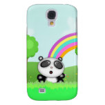 Cute Panda Bear in a colorful scene with rainbow Samsung Galaxy S4 Covers