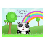Cute Panda Bear in Colourful Fields Mommy Calling Business Cards