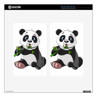 cute,panda bear,kids,animated,happy, eating bamboo kindle fire decal