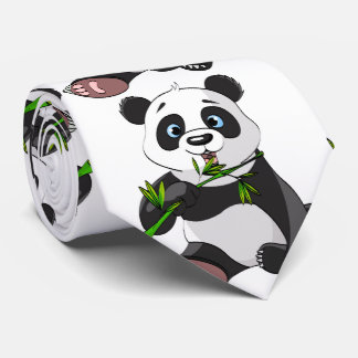 cute,panda bear,kids,animated,happy, eating bamboo tie