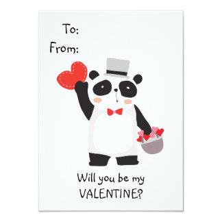 Cute Panda Bear Kids Valentine Card